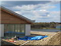 SP9313 : Almost ready - The Visitor Centre, College Lake, near Tring (April 2010) by Chris Reynolds
