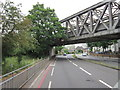 TQ2568 : The rail bridge on London Road, Morden by Ian S