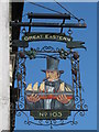 TQ3104 : Sign for The Great Eastern, Trafalgar Street / Trafalgar Court, BN1 by Mike Quinn