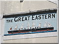 TQ3104 : Sign on The Great Eastern, Trafalgar Street / Trafalgar Court, BN1 by Mike Quinn