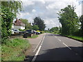 TL8646 : Road into Long Melford, Church in the Distance by b davies
