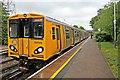 SJ3774 : Train, Capenhurst Railway Station by El Pollock