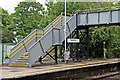 SJ3774 : Footbridge, Capenhurst Railway Station by El Pollock