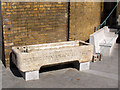 TQ4378 : Drinking trough by the Woolwich Arsenal Gatehouse by Stephen Craven