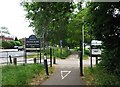TQ0050 : Burchatts Farm entrance to Stoke Park, London Road, Guildford by P L Chadwick