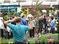 TQ3382 : Columbia Road flower market by Robin Stott