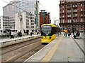 SJ8397 : Oldham Tram at St Peter's Square by Gerald England