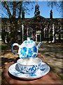 TQ3383 : Cup and Saucer, Geffrye Museum, Kingsland Road E2 by R Sones