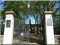 TQ3383 : Entrance gates, Geffrye Museum, Kingsland Road E2 by R Sones