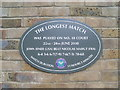 TQ2472 : The Longest Match Plaque at Wimbledon Tennis Club by David Hillas