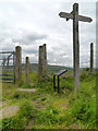 SJ9699 : Footpath Signpost, Ridge Hill by David Dixon