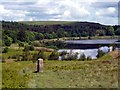 SK2584 : Boundary stone above Redmires Reservoirs by Graham Hogg