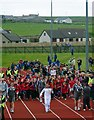 HY4411 : Olympic Torch Relay, Pickaquoy Centre, Kirkwall, Orkney by Claire Pegrum