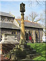 TQ3004 : St. Nicholas' Church, Dyke Road, BN1 - cross in churchyard by Mike Quinn