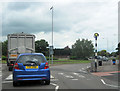 SK7081 : Retford roundabout from A620 east by John Firth