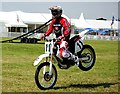 SJ7077 : Motorcycle Stunt Riding at the Cheshire Show by Jeff Buck