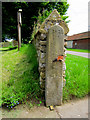 TA0079 : Dated gatepost at Willerby church by John S Turner