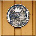 NZ3767 : Life Brigade Blue Plaque by David Dixon