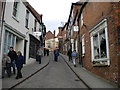 SK9771 : Steep Hill (upper), Lincoln by Richard Vince