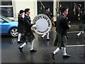 H4572 : The big drum of St Patrick's Pipe Band by Kenneth  Allen
