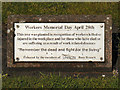 SD8010 : Workers' Memorial Plaque by David Dixon