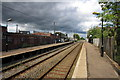 SP9236 : Woburn Sands Railway station by Philip Jeffrey