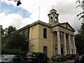 TQ2782 : St John's Wood church: portico by Stephen Craven