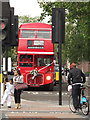 TQ2882 : Routemaster bus,  end on by Stephen Craven