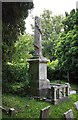 TQ4291 : St Paul, Cross Road, Woodford Bridge - Churchyard monument by John Salmon