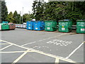 SN9768 : Recycling area, Rhayader by John Grayson
