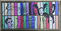 NJ9406 : Urban mural (close up) by Bill Harrison