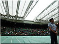 TQ2472 : The roof closing on Centre Court by Basher Eyre