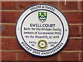 TQ2163 : Ewell Court Plaque by Colin Smith