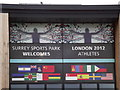SU9749 : Surrey Sports Park Welcomes by Colin Smith