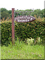 TM3672 : Fisher's Farm sign by Adrian Cable