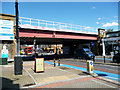 TQ2975 : Clapham High Street:  Railway Bridge by Dr Neil Clifton