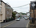 SO2118 : Bunting in High Street, Crickhowell by John Grayson
