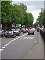 TQ2982 : Olympic Route Network: Games Lane, Euston Road NW1 by Christopher Hilton