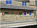 SJ9893 : The Station sign by Gerald England