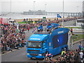 TQ8109 : Promotional lorry, Day 60 Olympic Torch Relay by Oast House Archive