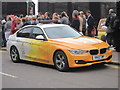 TQ8209 : Olympic BMW, Day 61 Olympic Torch Relay by Oast House Archive
