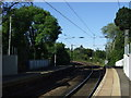 NZ2085 : Railway towards Newcastle from Morpeth Railway Station by JThomas