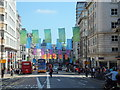 TQ2980 : London 2012 Flags is Regent Street by PAUL FARMER