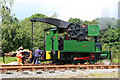 SJ9744 : Foxfield Railway - crane tank by Chris Allen