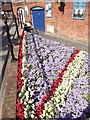 SU9949 : Union Flag Flowerbed, Mill Studio by Colin Smith