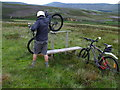 NO4683 : Wild tourism aided by stile above Glen Esk in Angus by ian shiell