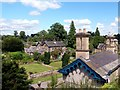 SK2469 : Edensor village by Graham Hogg