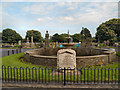 SJ6288 : Memorial and Fountain, Warrington Cemetery. by David Dixon
