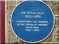 Photo of Titus Salt blue plaque