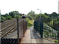 ST4769 : Ramp from  Nailsea & Backwell railway station to Station Close, Backwell by Jaggery